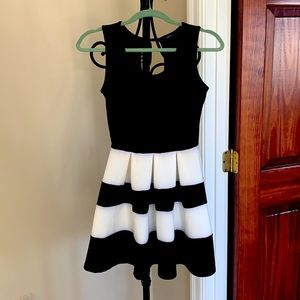 The Vintage Shop Black and White Dress